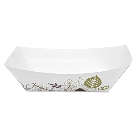 Dixie Kant Leek Polycoated Paper Food Tray, Pathways,5x6.69x1.6, 2lb (Dixie Food Trays)
