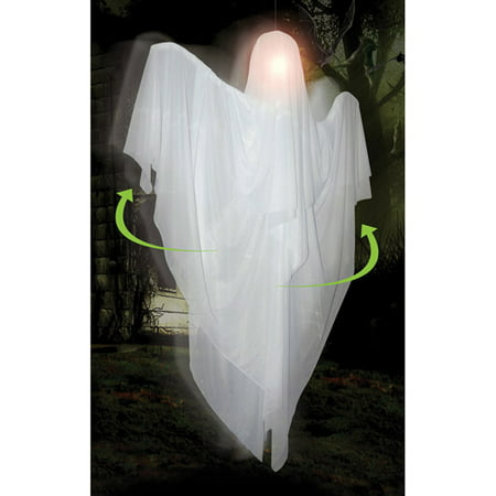 5' Hanging Rotating Ghost Halloween Decoration (Ghosts Hanging In Trees Halloween)