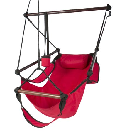Fullvigor Outdoor Hanging Hammock Stable and Strong Rope Chair Porch Swing Seating