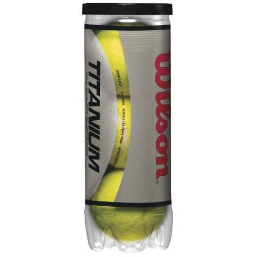 Wilson Titanium 3 Tennis Balls, 1 Can of 3 Balls by Wilson Sporting Goods