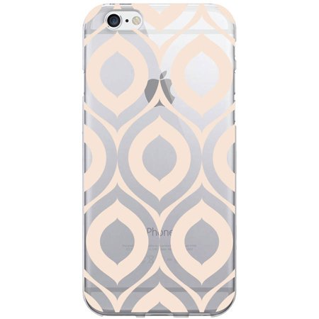 OTM Classic Prints Clear Phone Case for Apple iPhone 6, Peach Elm Frost