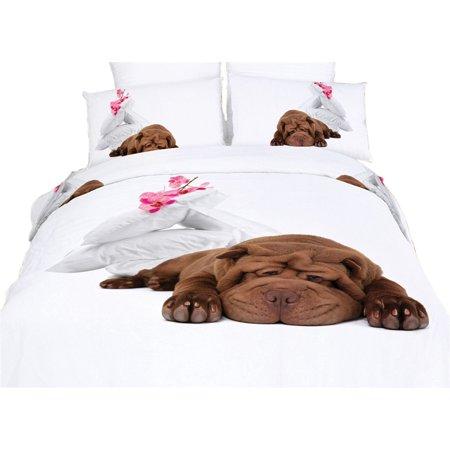 Dolce Mela Queen Size Duvet Cover Sheets Set -  Sleepy