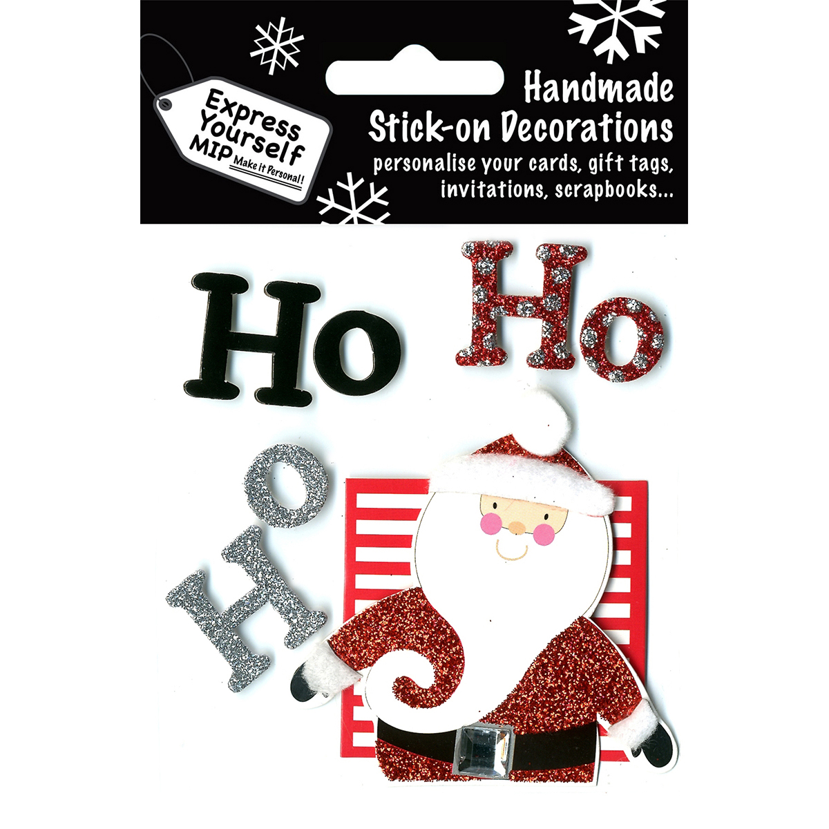 Express Yourself MIP 3D Stickers-Santa & Ho Ho Ho