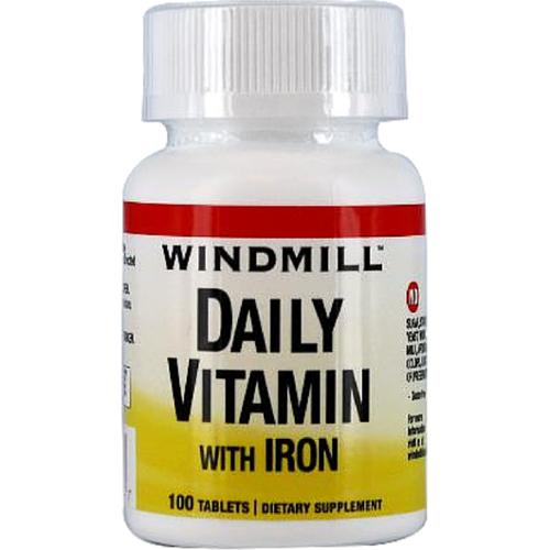 Windmill Daily Vitamin Tablets With Iron 100 Tablets (Pack of 2)