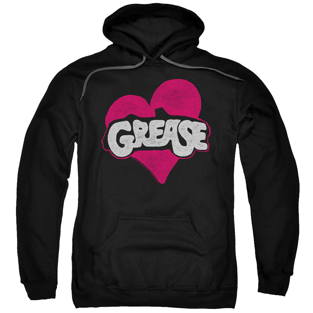 Grease Heart Mens Pullover Hoodie