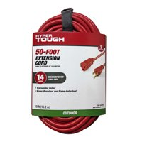 Hyper Tough 50FT 14/3 Extension Cord Red For Outdoor use