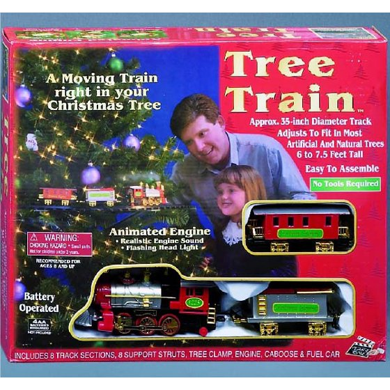 christmas tree train set walmartcom