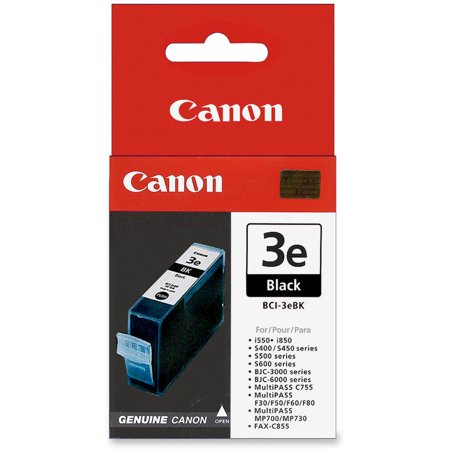 Canon BCI3EBK (BCI-3E) Ink, Black Bci 3e Compatible Ink