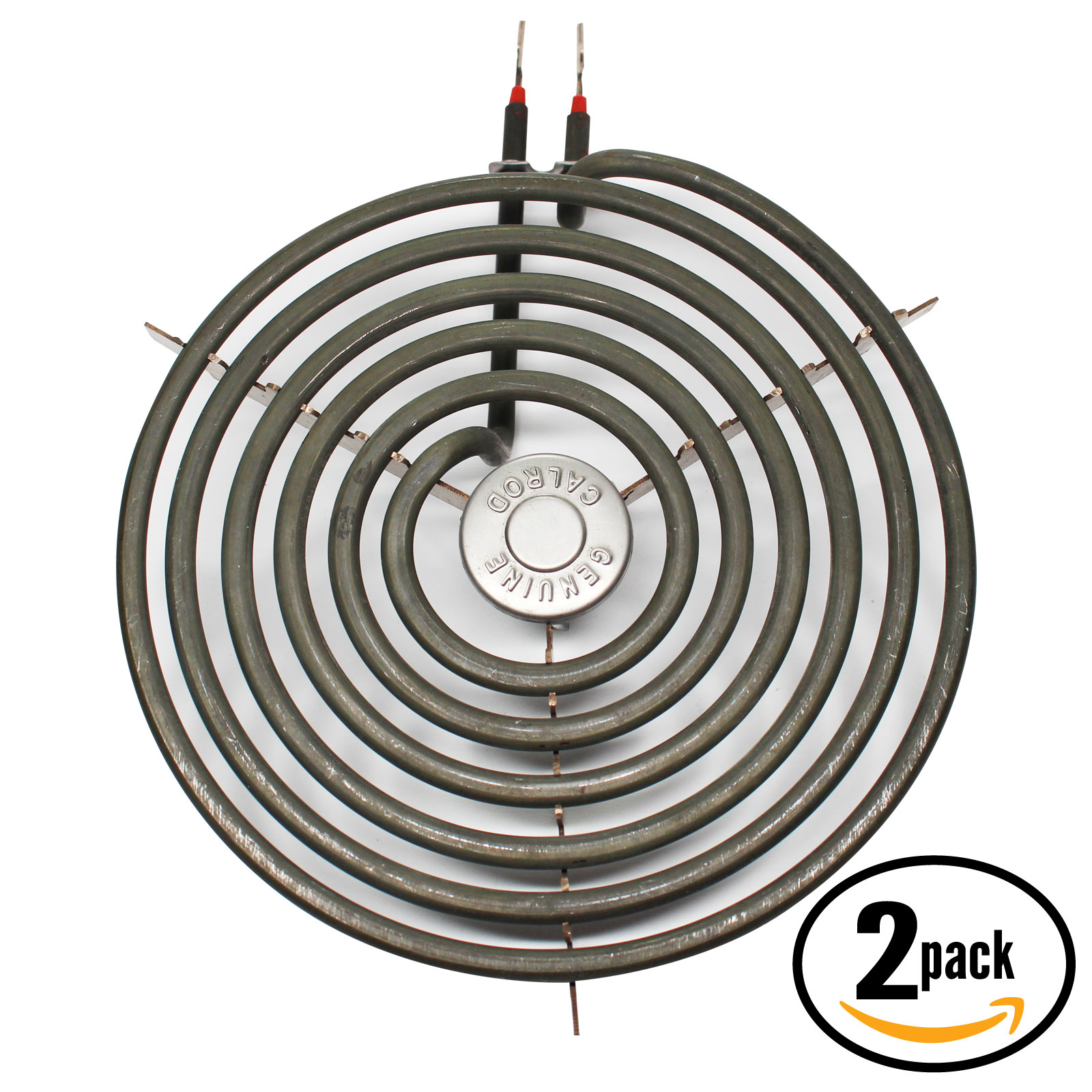 2-Pack Compatible General Electric LEB116GT1WH 8 inch 6 Turns Surface Burner Element - Compatible General Electric WB30M2 Heating Element for Range, Stove & Cooktop