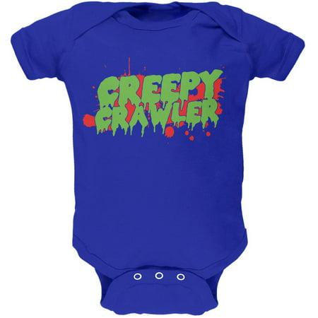 Halloween Creepy Crawler Royal Soft Baby One Piece - Halloween Royal Baby