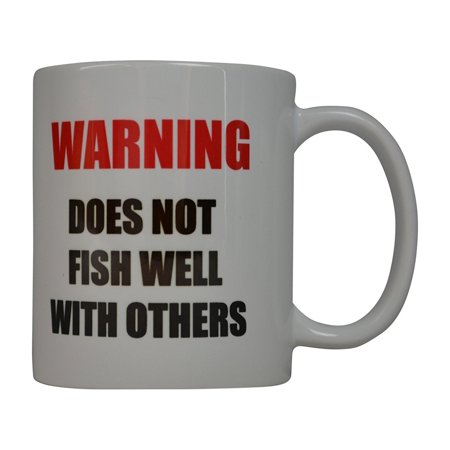 Rogue River Coffee Mug Fishing Warning does Not fish Well With Others Novelty Cup Great Gift Idea For Men Him Dad Grandpa Fisherman (Warning)