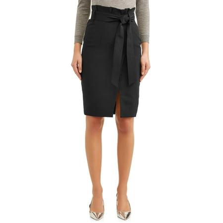L.N.V. Women's Paperbag Waist Skirt