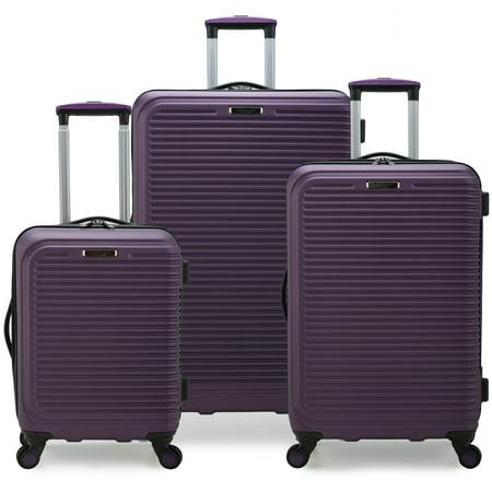 Elite Luggage Sunshine 3-Pc. Hardside Spinner Luggage Set, Purple