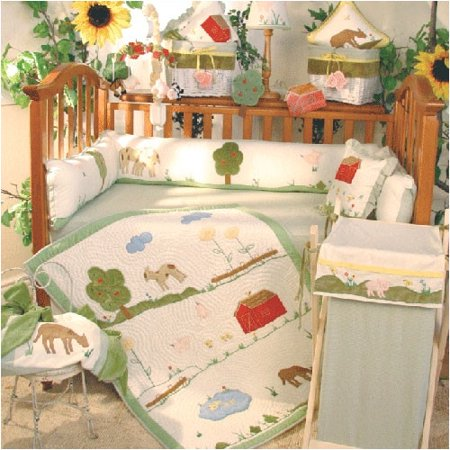 - Brandee Danielle Appletree Farm 4 Piece Crib Bedding Set