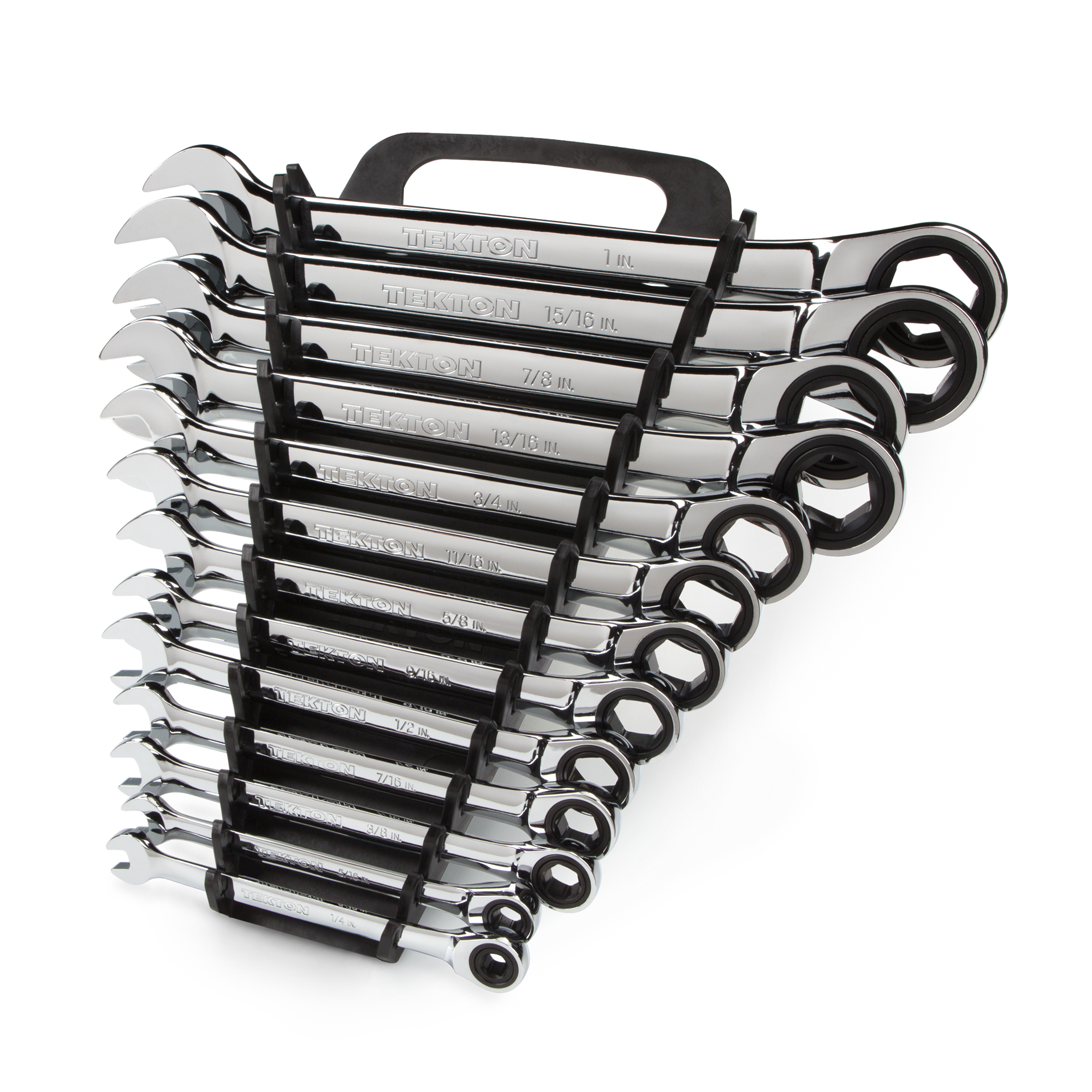 TEKTON Ratcheting Combination Wrench Set, 13-Piece (1 4-1 in.) Keeper | WRN53071 by TEKTON
