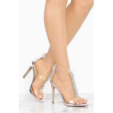 Liliana Leska-55 Silver Diamonds T-strap Clear Strap Formal Dress Sandals Pump (9) (6)