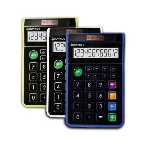 3 pcs - Hybrid Solar/Battery powered desktop 8 digit  Calculator DXXDD612X3