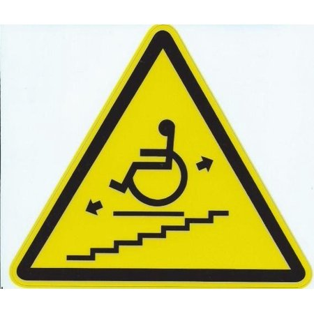 4.5inx4in Wheel Chair Lift Warning Sign Decal Sticker Window Signs Decals (Decal Lift)