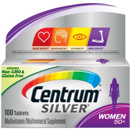 Centrum Silver Women 50+ Multivitamin Tablets, 100 (Best Vitamins For Women Over 50 Years Old)