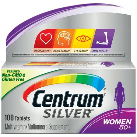 Centrum Silver Women 50+ Multivitamin Tablets, 100 (Best Vitamins For Senior Women)