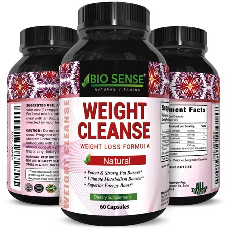 Bio Sense Weight Cleanse Supplement For Men And Women Natural Weight Loss Complex Diet Pills With Garcinia Cambogia Green Coffee Bean Raspberry