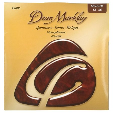 Signature Vintage Bronze Acoustic Strings, 13-56, 2006, Medium, Light Gauge By Dean Markley From (Dean John Entwistle Signature Spider Usa Bass Guitar)