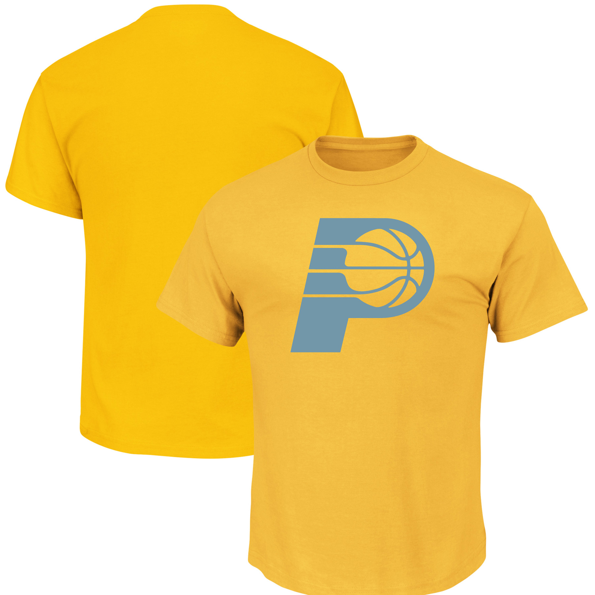 Indiana Pacers Majestic Reflective Tek Patch T-Shirt - Gold