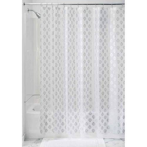 InterDesign Florence Decorative PEVA Shower Curtain Liner
