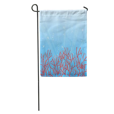 Colorful Sea Bubbles (LADDKE Colorful Reef Red Coral and Bubbles in Blue Ocean Sea Garden Flag Decorative Flag House Banner 28x40)