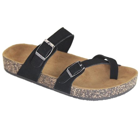 Women's Thong Strap Footbed Insole Flat Slide Sandals (FREE SHIPPING) ()