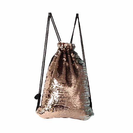 Fashion Outdoor Sports Casual Multicolor Color Sequins Unisex Drawstring Bag