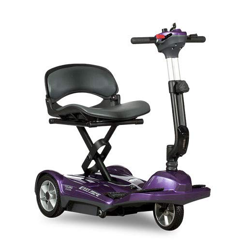EV Rider Transport Easy Move Folding Mobility Scooter (Purple) - Electric Foldable Scooter