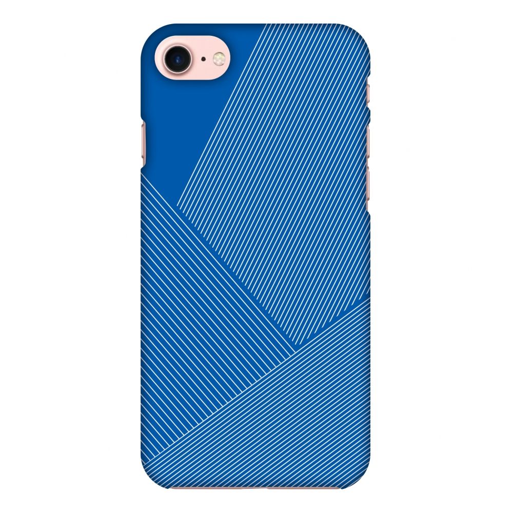 iPhone 7 Case, Premium Handcrafted Designer Hard Shell Snap On Case Printed Back Cover with Screen Cleaning Kit for iPhone 7, Slim, Protective - Carbon Fibre Redux Coral Blue 1