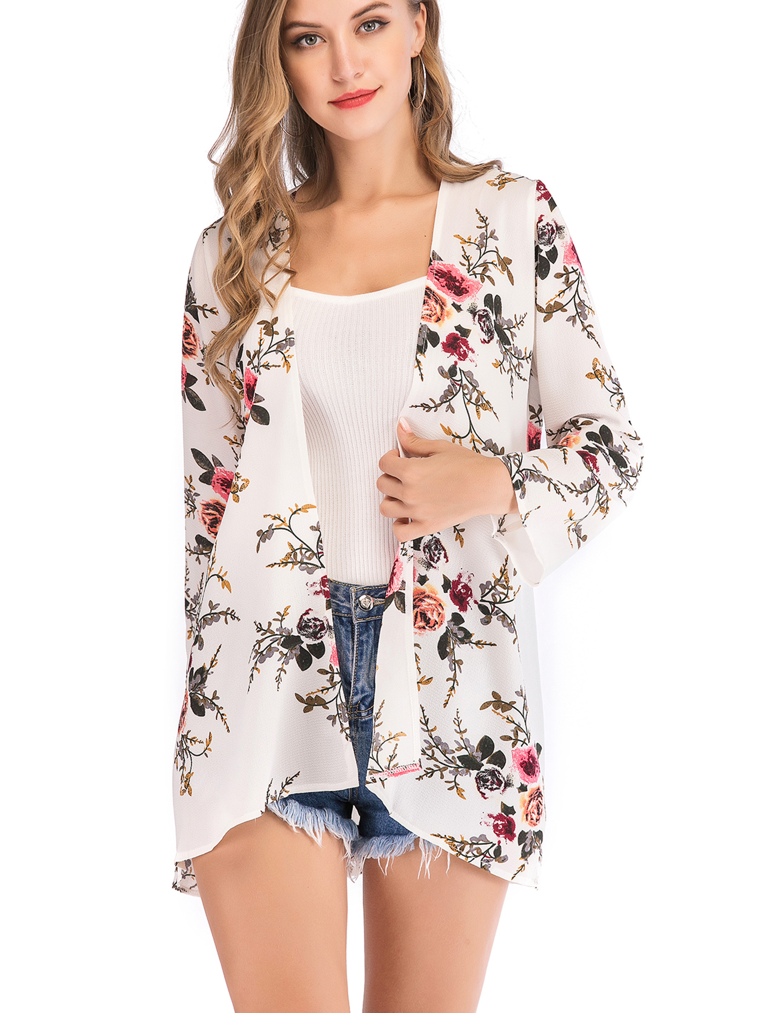 Long Sleeves Tops Soft Cotton Tops Blouse Casaul Loose Kimono Spring Customized Plus Size Clothing