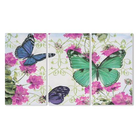 The Stupell Home Decor Collection Butterfly Inspirations Wall Plaque - Set of 3