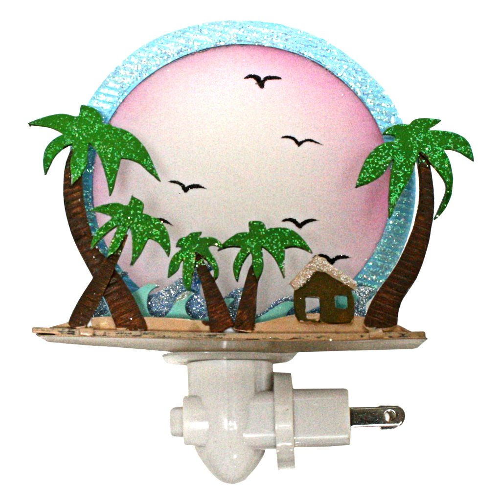 "Roman 42086 - 6"" Tropical Beach Night Light (6"" TROPICAL PAPER)"