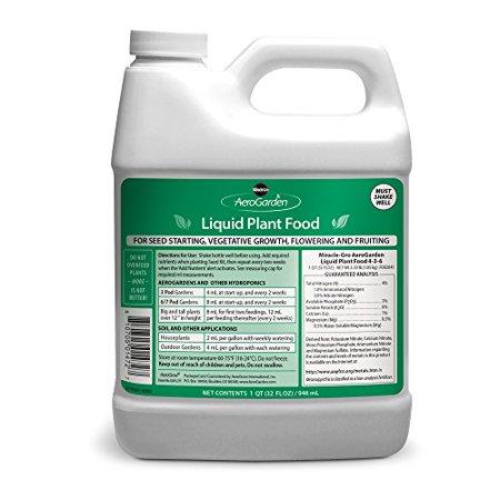 Miracle-Gro AeroGarden Liquid Nutrients (1 Liter) (Best Aerogarden For Growing Weed)
