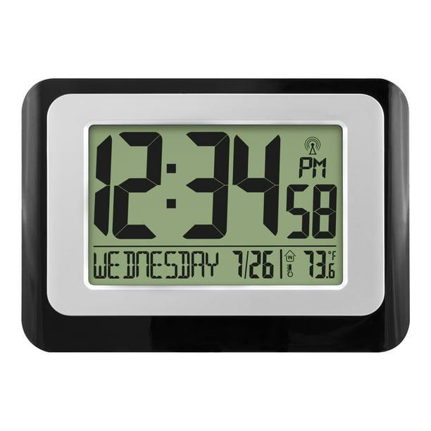 Digital Atomic Calendar Clock With, Best Rated Atomic Clock With Indoor Outdoor Temperature