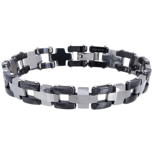 Daxx Men's Tungsten Two-tone Link Bracelet