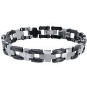 Men's Tungsten Two-tone Link Bracelet