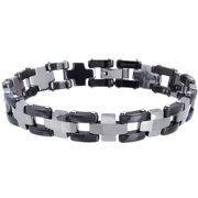 Men's Tungsten Two-tone Link Bracelet