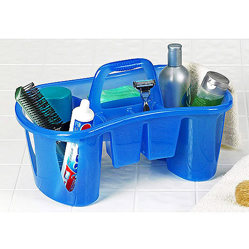 Unique Compartmentalized Bath Caddy, Sapphire Blue