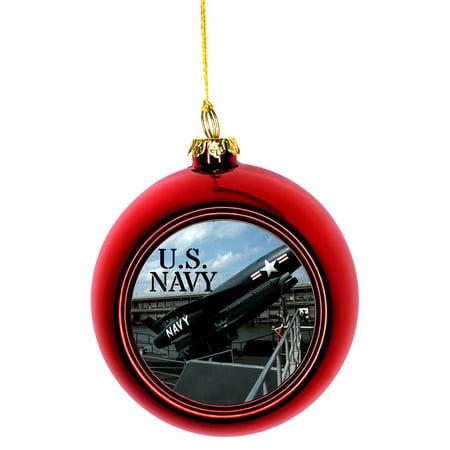 Navy Christmas Ornaments.U S Navy Bauble Christmas Ornaments Red Bauble Tree Decoration
