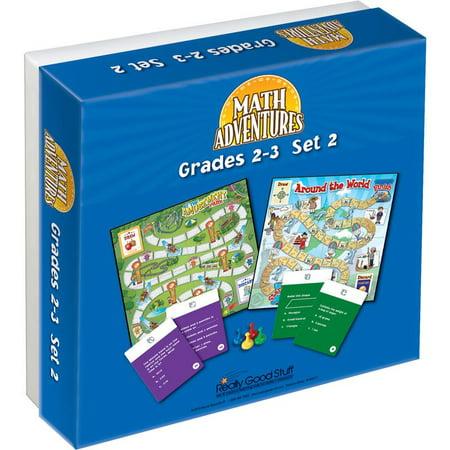 Grades 2-3 Math Adventures Games - Set 2 (2 Grade Math Games)