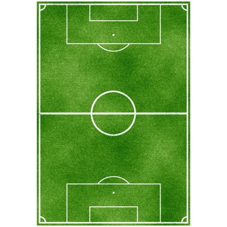 Soccer Field Sports Poster Print Poster - 13x19