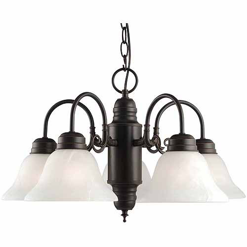 Design House 514455 Millbridge 5-Light Chandelier, Oil Rubbed Bronze Finish
