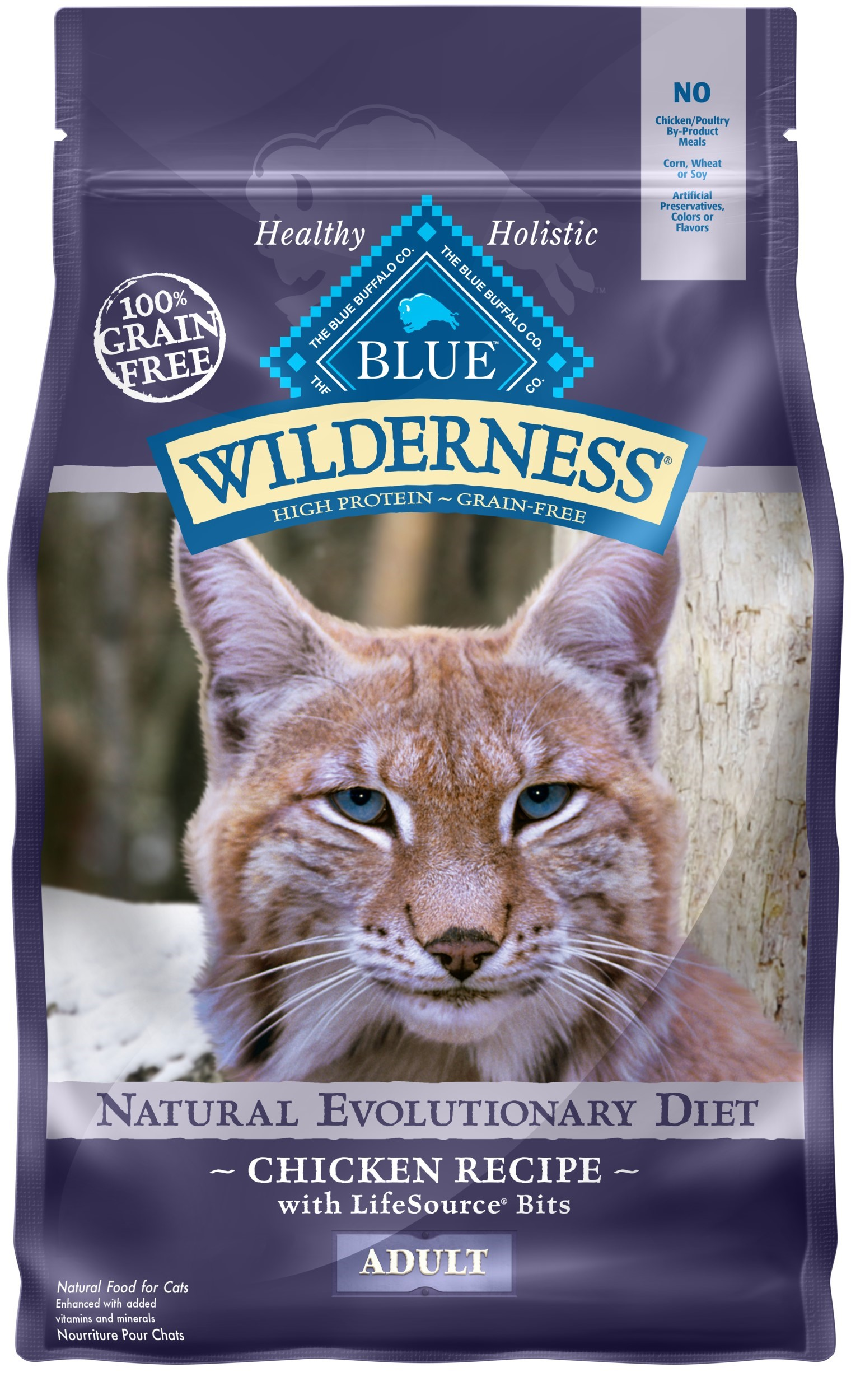 Blue Buffalo Wilderness High Protein Grain Free, Natural Adult Indoor Dry Cat Food, Chicken Recipe by Blue Buffalo Co., Ltd.