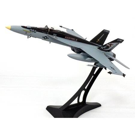 F/a 18c Hornet Diecast Model (Boeing F/A-18E (F-18) Super Hornet VFA-137 Kestrels - with Metal Display Stand - 1/72 Scale Diecast)