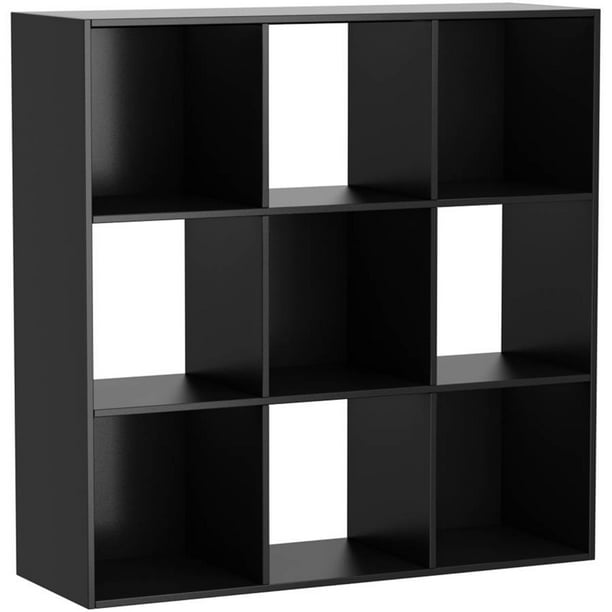 Mainstays 9 Cube Storage Organizer, Black