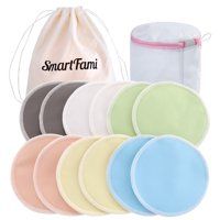 69bf7aa6f7a15 Product Image Washable Organic Bamboo Nursing Pads(12 Pack) with Laundry and  Cloth Bag by SmartFami